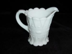 Click here to enlarge image and see more about item 216: Kemple Milk Glass Pitcher