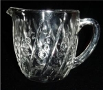 Click here to enlarge image and see more about item 21: Crystal Beaded and Bar Milk Pitcher