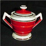 Click to view larger image of Hall's Superior Kitchenware Sugar Bowl (Image1)