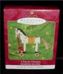 Click here to enlarge image and see more about item 223h: A Pony for Christmas Hallmark Ornament