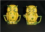 Click to view larger image of Owl Creamer, Sugar Bowl and Salt & Pepper Set (Image1)