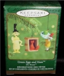 Green Eggs & Ham Hallmark Mini Ornament