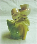 Click here to enlarge image and see more about item 23s: Vintage Boy & Girl Planter