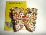 Click to view larger image of Keren Kopal Butterfly Trinket Box (Image2)