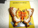 Click here to enlarge image and see more about item 2455s: Keren Kopal Butterfly Trinket Box