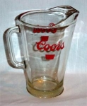 Click here to enlarge image and see more about item 250: Coors Beer Pitcher