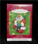 Joyful Santa 2001 Hallmark Ornament