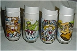 Click here to enlarge image and see more about item 253s: 1981 McDonalds Muppets Glasses set of 4