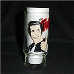 Click here to enlarge image and see more about item 259s: Dr. Pepper Happy Days Fonz  Glass