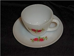 Click here to enlarge image and see more about item 269ss: Fire King Two Roses Cup and Saucer