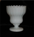 Click here to enlarge image and see more about item 278: Milk Glass Footed Compote