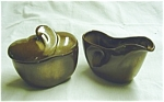 Click here to enlarge image and see more about item 27s: Frankoma Sugar and Creamer Set