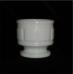 Click here to enlarge image and see more about item 284: Milk Glass Planter