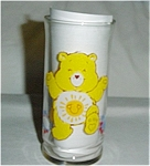 Click here to enlarge image and see more about item 286s: Care Bear Funshine Bear Pizza Hut Glass