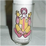 McDonalds Ronald McDonald Glass