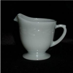 Click here to enlarge image and see more about item 293: Fire King Grey Laurel Creamer