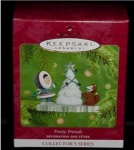 Click here to enlarge image and see more about item 298h: Frosty Friends 2001 Hallmark Ornament