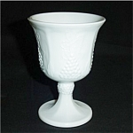 Click here to enlarge image and see more about item 305s: Indiana Glass Milk Glass Goblet