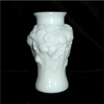 Click here to enlarge image and see more about item 307: Vintage Milk Glass Flower Vase