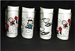 Click here to enlarge image and see more about item 308s: Peanuts Dirnking Glasses Set of 4