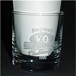 Seagram's V.O. 1990 Golden Quartarback Glass