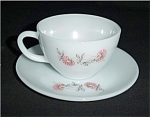 Click here to enlarge image and see more about item 319s: Fire King Fleurette Cup and Saucer
