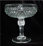 Click here to enlarge image and see more about item 332: Indiana Glass Diamond Point Compote