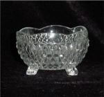 Click here to enlarge image and see more about item 333: Indiana Glass Three Toed Crimped Bowl
