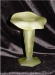 Click here to enlarge image and see more about item 342: Westmoreland Green Satin Vase