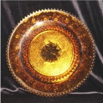 Click here to enlarge image and see more about item 347: Jeannette Glass Sandwich Serving Plate