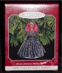 Click here to enlarge image and see more about item 348h: African American Barbie Hallmark Ornament
