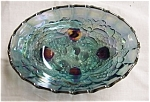 Click here to enlarge image and see more about item 34s: Indiana Glass Blue Carnival Fruit Bowl