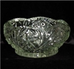 Click here to enlarge image and see more about item 356: Crystal Cut Fruit  / Salad Bowl