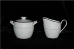 Click here to enlarge image and see more about item 357: Ashcraft Sugar and Creamer