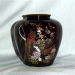 Click here to enlarge image and see more about item 364: Peacock Flower Vase