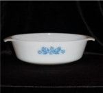Click here to enlarge image and see more about item 373: Fire King Floral Casserole Dish