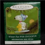 Winter Fun with Snoopy Mini Hallmark Ornament