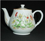 Click here to enlarge image and see more about item 384s: Floral Teapot Made in Japan