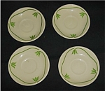 Click here to enlarge image and see more about item 392s: Iruquois China Saucers Set of 4