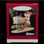 Click here to enlarge image and see more about item 396h: Betty & Wilma Flintstones Hallmark Ornament