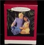 Click here to enlarge image and see more about item 398h: Pocahontas & John Smith Hallmark Ornament