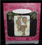 Click here to enlarge image and see more about item 39h: Our Song Hallmark Ornament