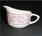 Click here to enlarge image and see more about item 404s: Pink Currier and Ives Creamer