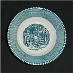 Click here to enlarge image and see more about item 407s: Blue Currier and Ives Bowl