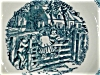 Click to view larger image of Blue Currier and Ives Bowl (Image2)