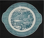 Click here to enlarge image and see more about item 409s: Royal Currier and Ives Tab Handled Plate