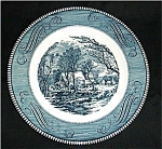 Blue Currier and Ives Dinner Plate