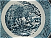 Click to view larger image of Blue Currier and Ives Dinner Plate (Image2)