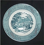 Click here to enlarge image and see more about item 412s: Blue Currier and Ives Bread and Butter Plate