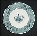 Blue Currier and Ives Saucer